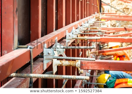 Concrete reinforced bridge construction formwork Stock photo © lunamarina