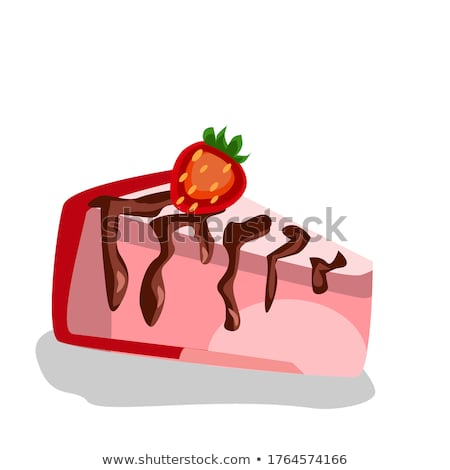 morango · creme · torta · bolo · verão · branco - foto stock © M-studio