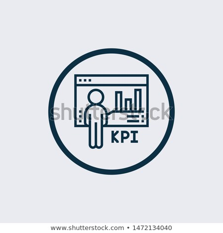 Linear Graph Icon in trendy flat style isolated on modern background. Chart bar symbol for your web  stock photo © kyryloff