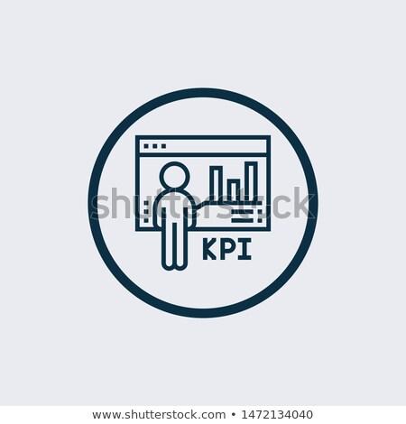 Linear gráfico ícone estilo isolado Foto stock © kyryloff