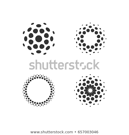 vector black dots in circle form Stock photo © freesoulproduction