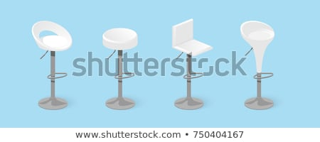 Moderno bar sedia sgabello isolato bianco Foto d'archivio © konturvid
