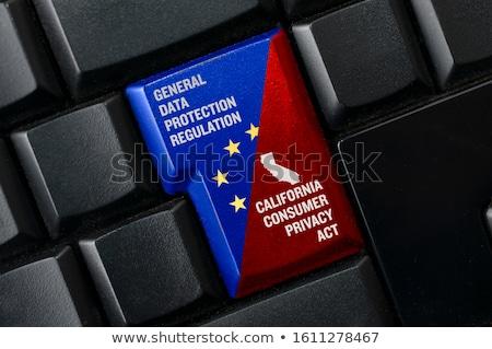 magánélet · számítógép · billentyűzet · szó · phishing · absztrakt · technológia - stock fotó © oakozhan