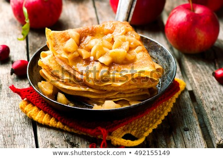 Homemade Crepes With Apple Stock photo © mpessaris