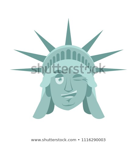 Statue of Liberty winks Emoji. US landmark statue face happyl em Stock photo © popaukropa