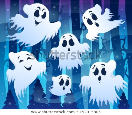 Halloween image with ghosts theme 7 Stock photo © clairev