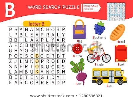 the letter b crossword stock photo © bluering