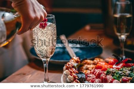 nowy · rok · szampana · biały · wina · szczęśliwy - zdjęcia stock © dashapetrenko