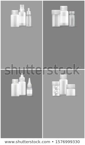 Apteki lek zestaw internetowych plakaty zielone Zdjęcia stock © robuart