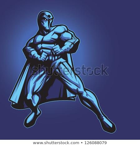 super hero man dark purple 2 Stock photo © toyotoyo