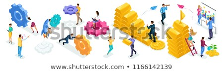 Banking and Business Processes Vector Illustration Stock photo © robuart
