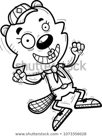 漫画 女性 ビーバー スカウト ジャンプ 実例 ストックフォト © cthoman