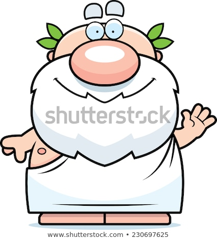 Waving Cartoon Greek Philosopher Stock photo © cthoman