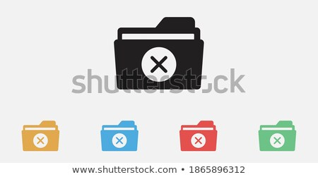 Rejected document icon. Minus on paper, vector illustration isolated on white background. stock photo © kyryloff