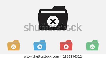 belge · ikon · eksi · kâğıt · yalıtılmış · beyaz - stok fotoğraf © kyryloff
