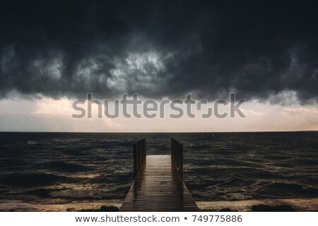 Stormy clouds awaken the seas Stock photo © lovleah