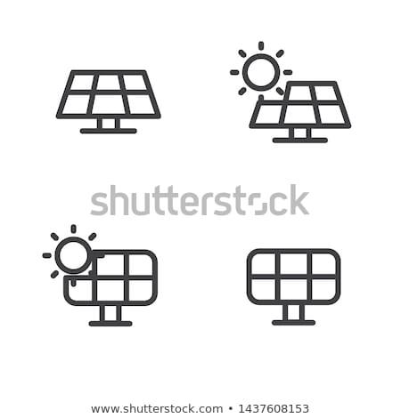 Panneau solaire vecteur icône isolé blanche Photo stock © smoki