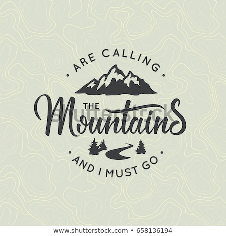 旅行 Tシャツ 印刷 山 呼び出し デザイン ストックフォト © JeksonGraphics