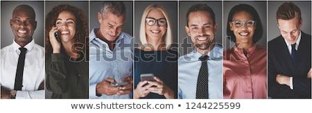 Portre iş adamları ofis toplantı çalışmak grup Stok fotoğraf © Minervastock