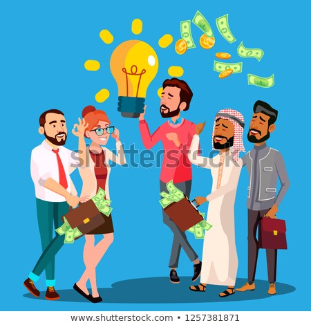 Business idee vector man gloeilamp Stockfoto © pikepicture