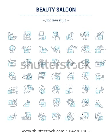 Beauty Salon Procedures and Service Set Vector Stock photo © robuart
