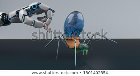 Dna robot mano spider illustrazione 3d salute Foto d'archivio © limbi007