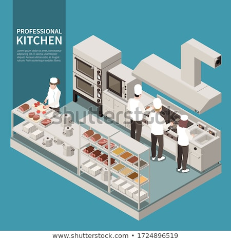 estufa · vector · icono · largo · sombra · alimentos - foto stock © tele52