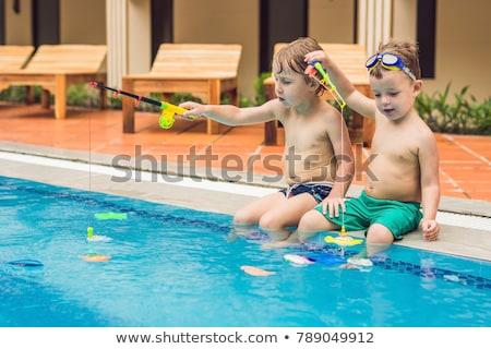 красивой · дети · бассейна · счастливым · спорт · ребенка - Сток-фото © galitskaya