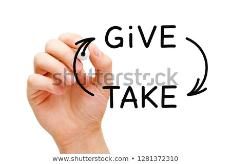 Give And Take Compromise Or Charity Concept Stock photo © ivelin