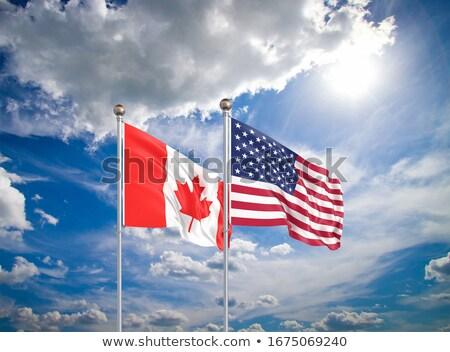 USA · Canada · vlag · gemengd · geven - stockfoto © mikhailmishchenko