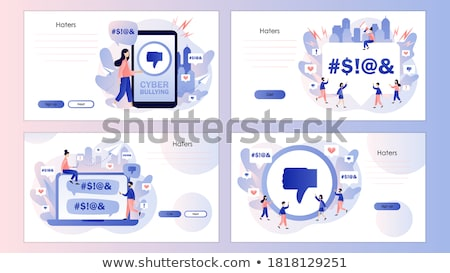 Stock photo: Internet Trolling Concept Landing Page