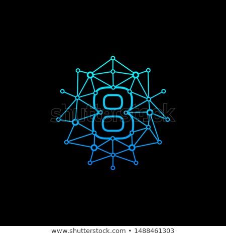 Szám nyolc logo negatív űr terv Stock fotó © blaskorizov