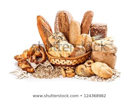 Zoute krakeling brood witte illustratie voedsel achtergrond Stockfoto © colematt