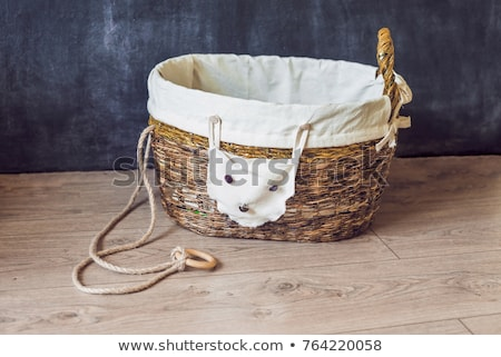A basket for toys made from old newspapers. zero waste Stock photo © galitskaya