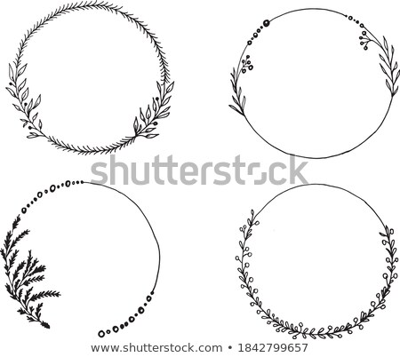 Decorative element on theme of Christmas and New year isolated on white background. Arrangement of c Stock photo © Lady-Luck