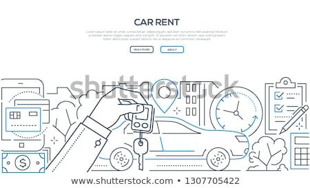 車両 バナー ヘッダ ビジネスの方々  支払い ストックフォト © RAStudio
