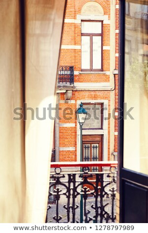 Brussels architecture from inside view of a hotel Stock photo © frimufilms
