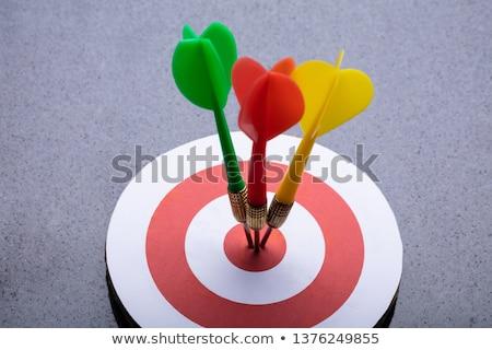 Colorido dardos alvo cinza ver negócio Foto stock © AndreyPopov