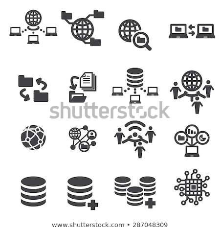 Exchanging Data Icon Stock photo © angelp
