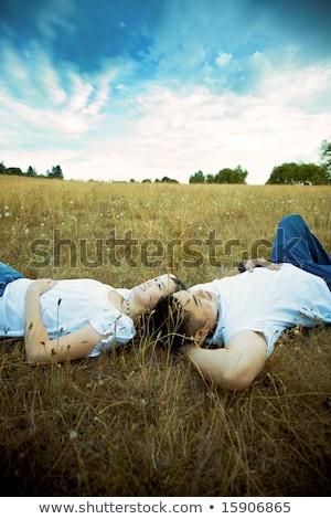 Kép szerető pár férfi nő 20-as évek Stock fotó © deandrobot