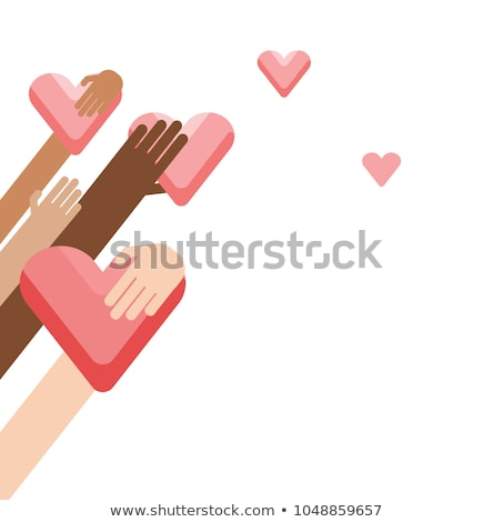 Mãos coração caridade filantropia cartaz Foto stock © Winner