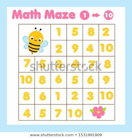 Numero dieci ape illustrazione arte segno Foto d'archivio © colematt
