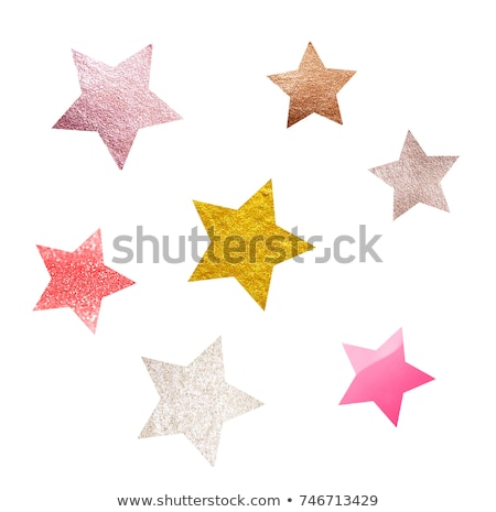 Red Glitter Star Isolated Stock photo © barbaliss