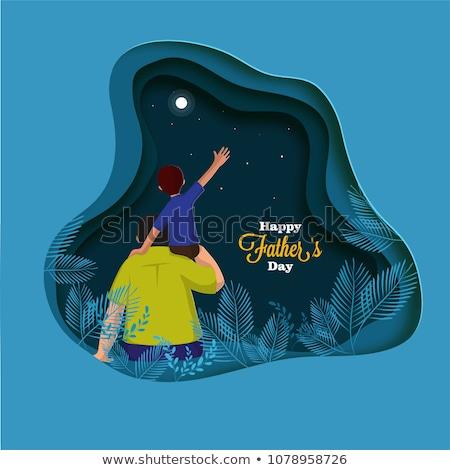 gelukkige · vadersdag · kaart · liefde · meisje · partij · kinderen - stockfoto © lemony