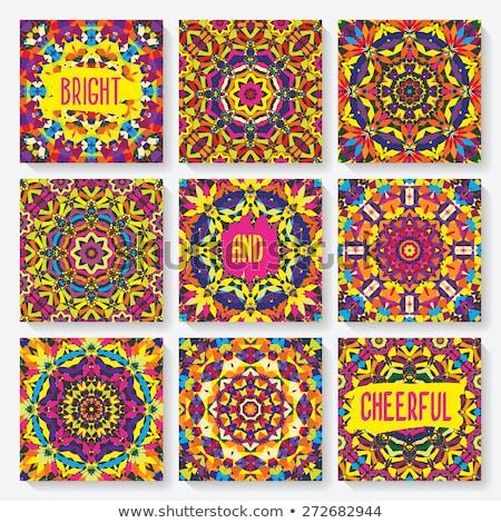 Renk bağbozumu tarot kartları afiş Stok fotoğraf © netkov1