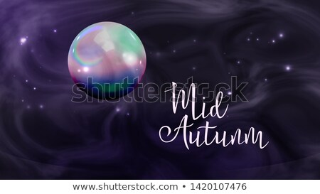 Sphere In Sky Mid Autumn Festival Banner Vector Stock photo © pikepicture