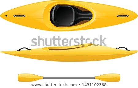 Kayak doble canoa superior vista peces Foto stock © Winner