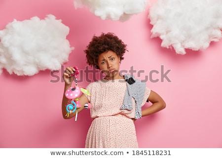 Fiatal nő egészséges bőr pózol izolált rózsaszín Stock fotó © deandrobot