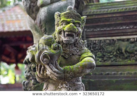 Stutue in Sacred Monkey Forest, Ubud, Bali, Indonesia Stock photo © galitskaya
