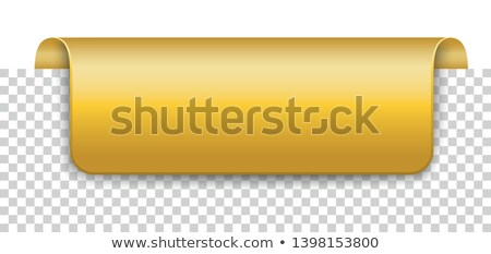 Long Golden Covert Marker Banner Transparent Stock photo © limbi007